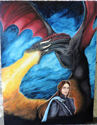 Drogon and Queen Lisa