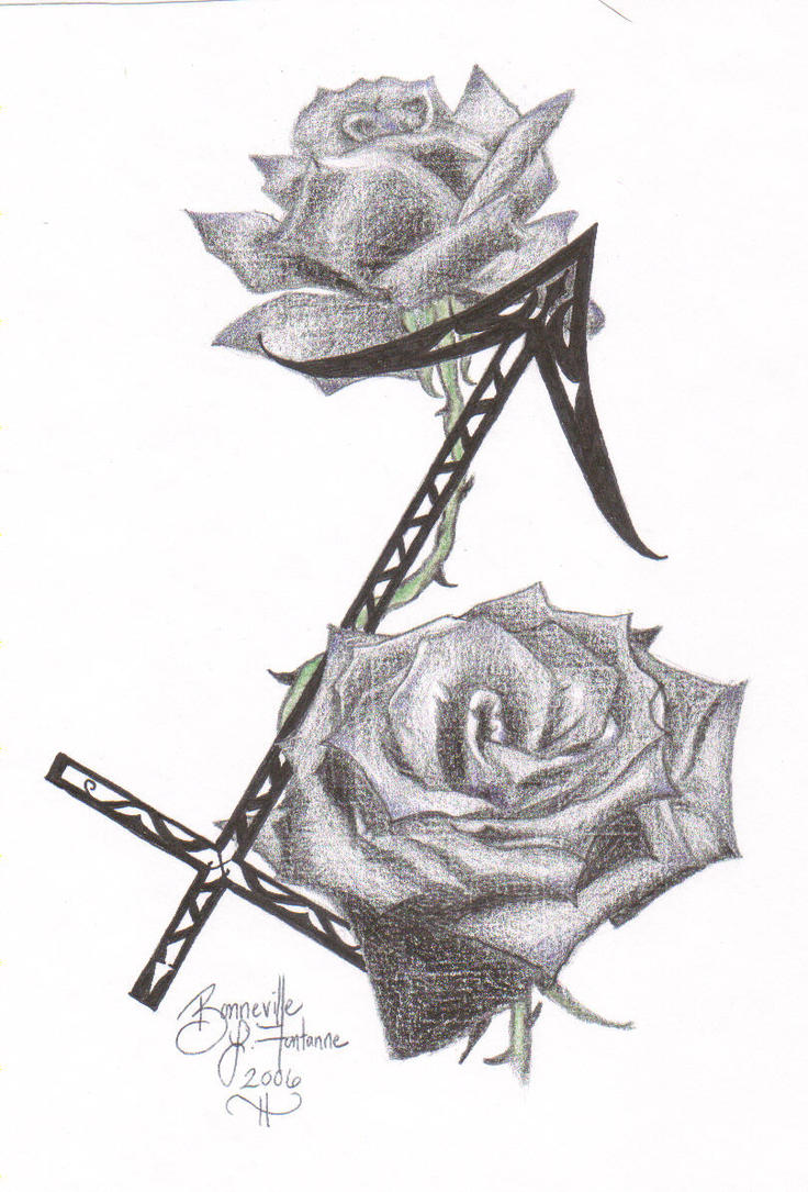 Neo Traditional Rose Outline