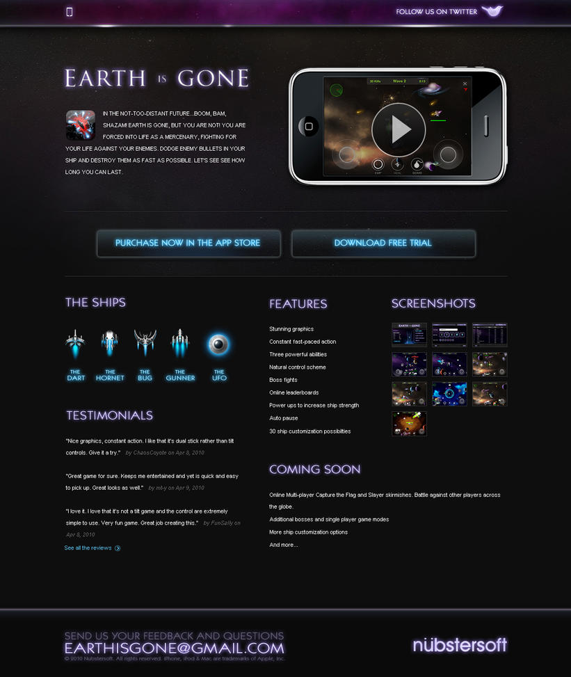 Earth is gone - Website by ehaft