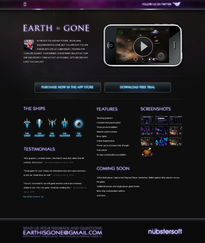 Earth is gone - Website by ehaft