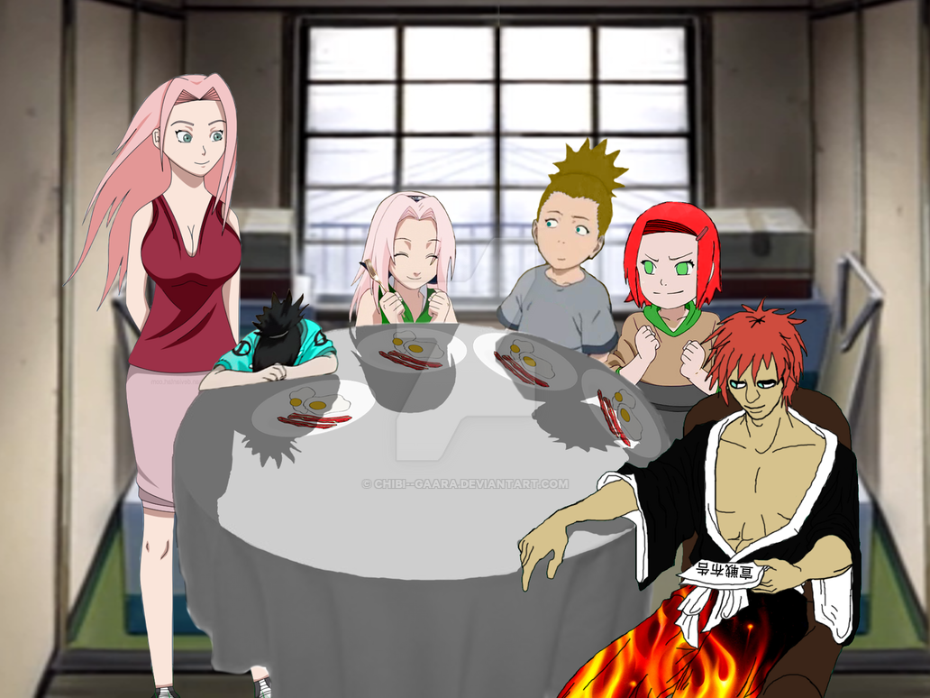 the sand family in the kitchen by chibigaara on deviantart