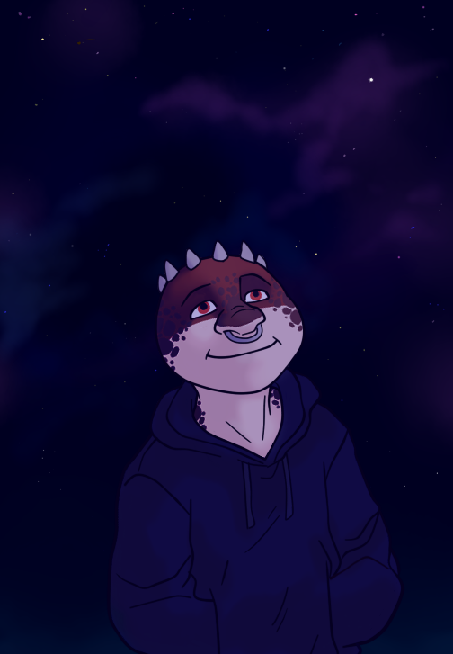 Starry Night (art trade) by the-fox-after-dark