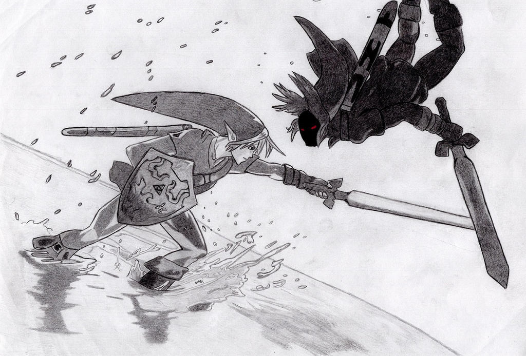 Link vs Dark Link by AaronHenn-M
