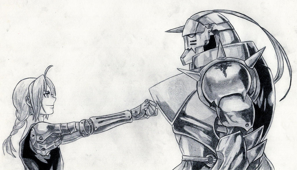 Edward and Alphonse Elric by AaronHenn-M