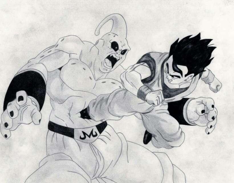 Gohan Vs Super Buu by AaronHenn-M