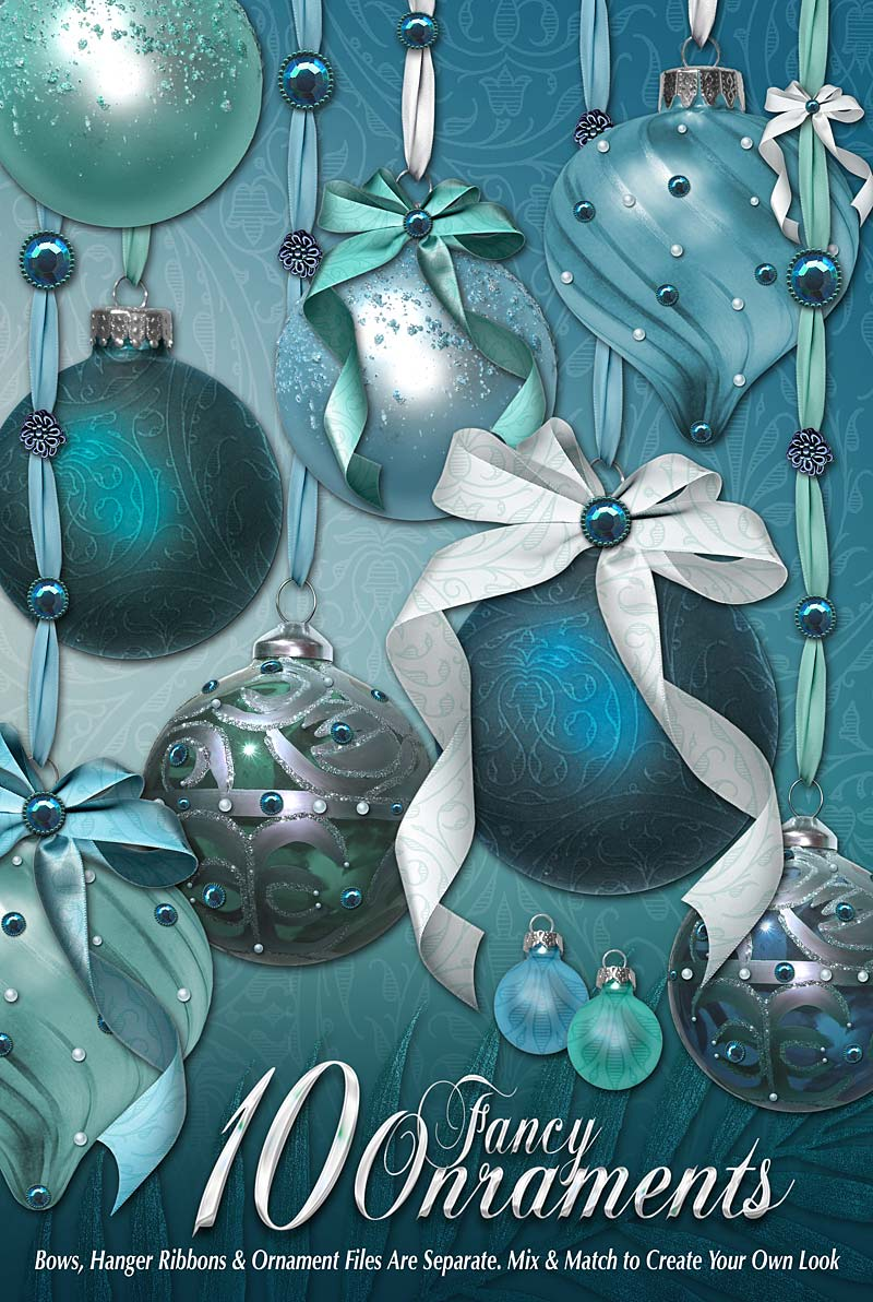 Holiday Jewels Ornaments Promo by Zai-By-Design
