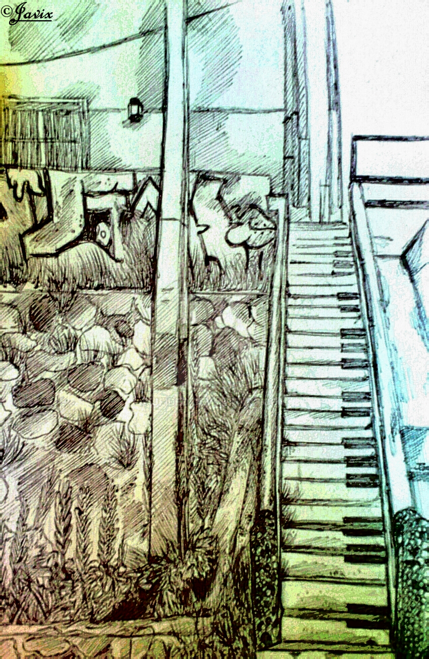 Piano Stairs by LaTiaMega