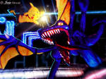 Pikachu vs Ridley (commission) by JFideo