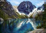 Lake Colchuck WIP by wretchedharmony-lina