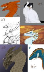 Sketchdump #01 by Zyhora