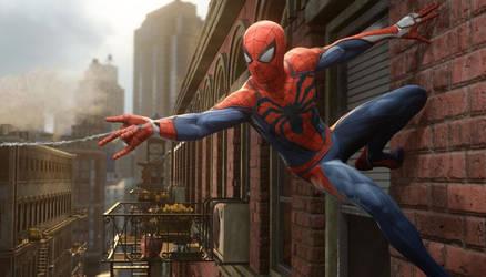 PS4 Spider-Man Game Suit - Black Symbol Manip