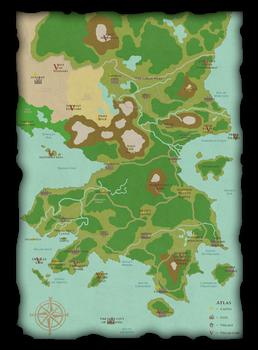 A Map of Disney's Auradon from Descendants