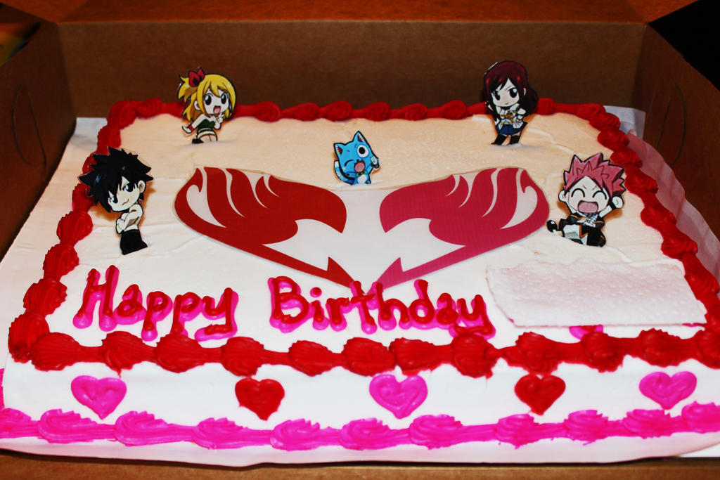 Fairy Tail Cake Toppers