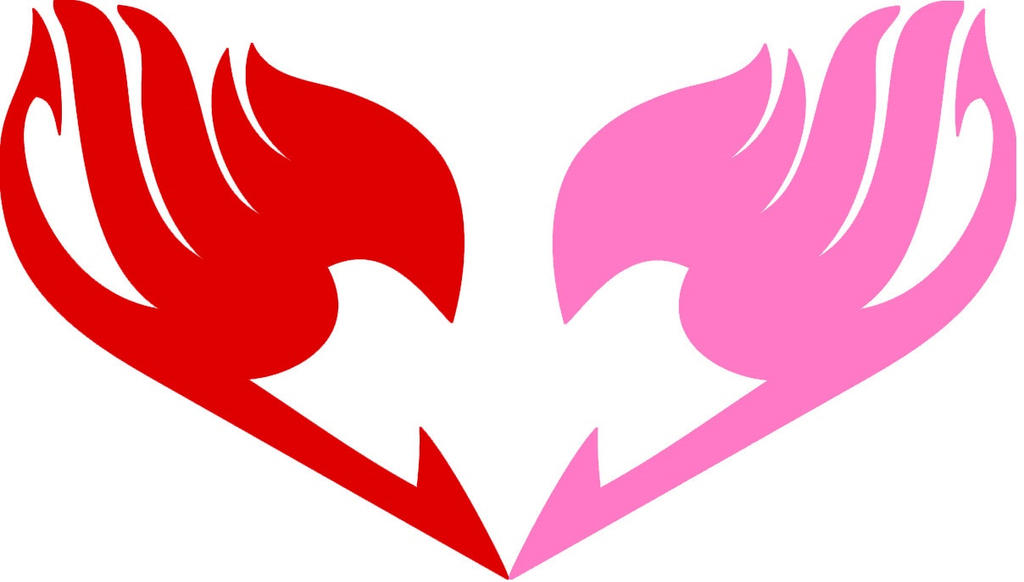 Fairy tail logo natsu n 39 lucy 39 s insignia as heart by dragonfairy93 on deviantart - Embleme de fairy tail ...