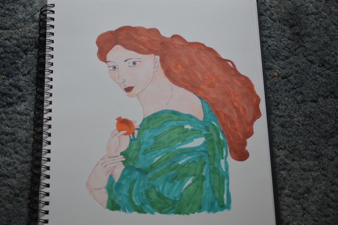 Pre - Raphaelite, 'Proserpine' by calloyd3
