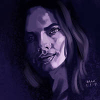 Purple - Portrait Study