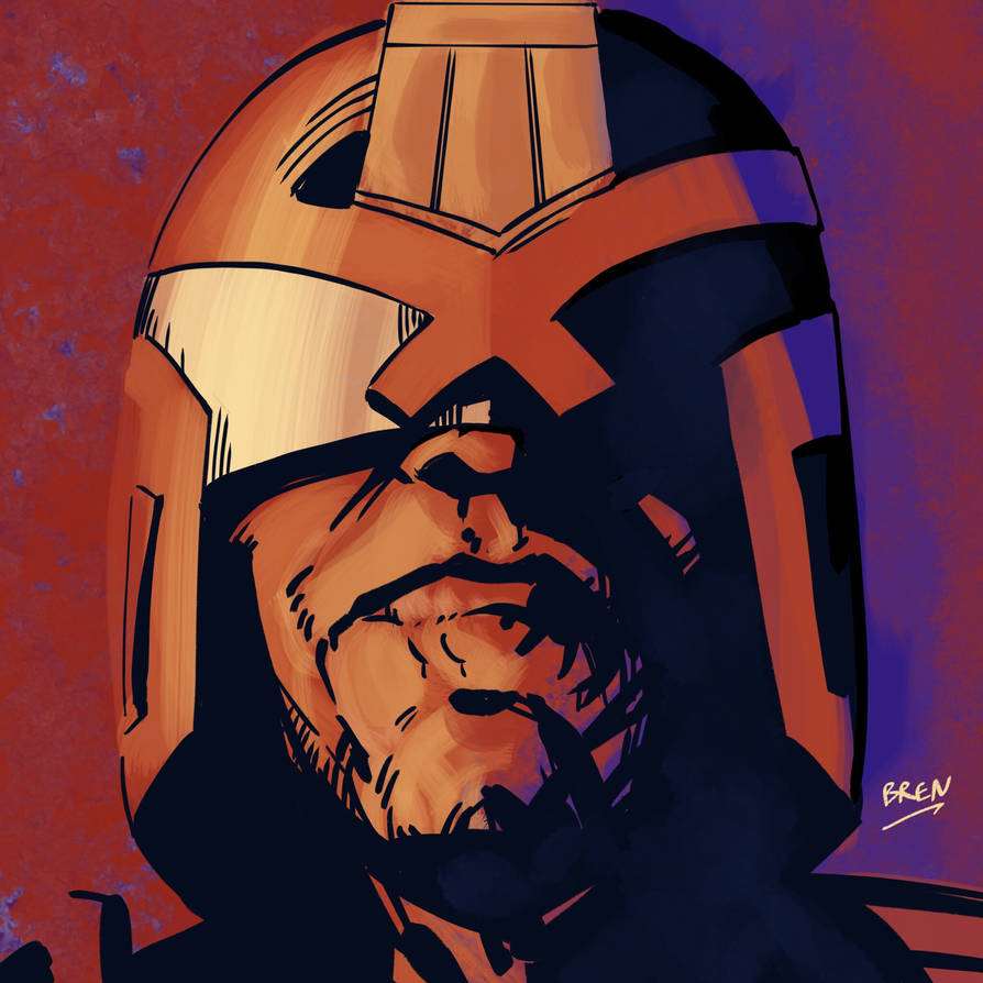Dredd head by mightybren