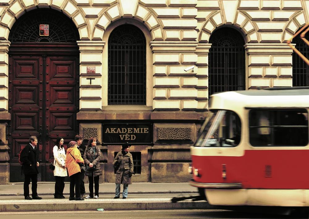 The Wait for a Tram by ondrejZapletal