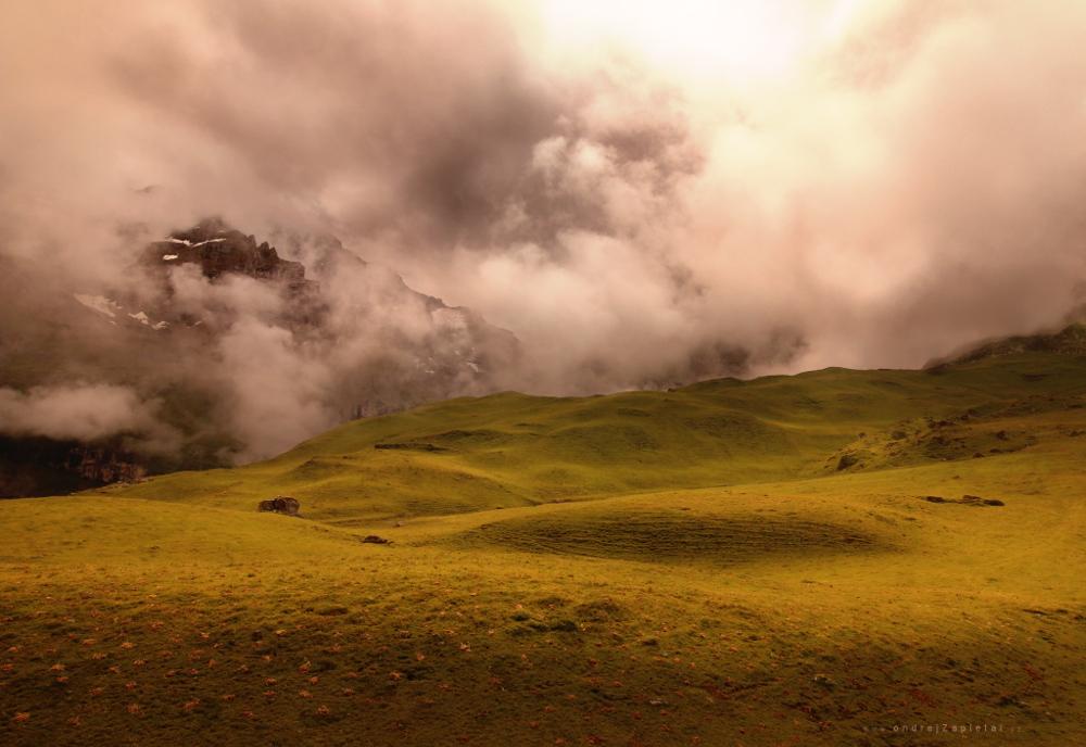 Mountain in Clouds by ondrejZapletal