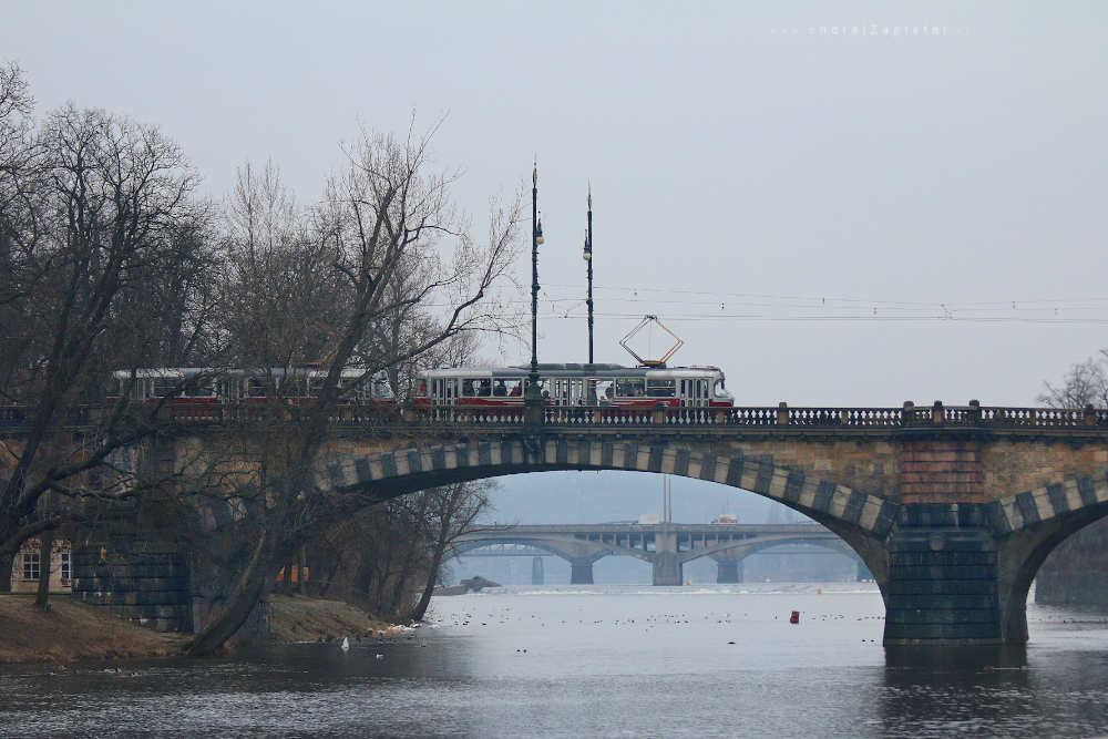Tram Number 22 on Legion Bridge by ondrejZapletal
