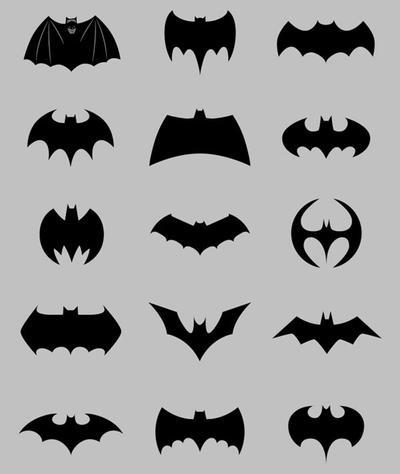 Many Batman Symbol S In Grey By Aspergerscreator228