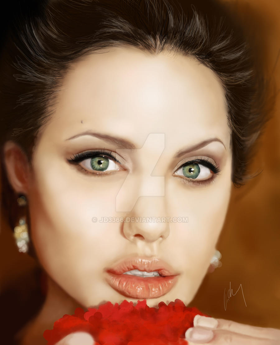 Angelina Jolie Painting . by JD3366