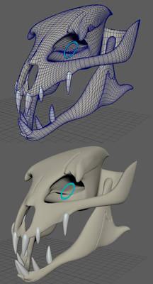 Gaster Blaster 3D Model