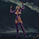 Ms. Blitzen  Calling The Wave by Lady-Quantum