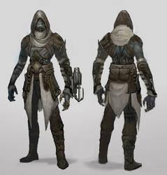 Dark Elf Assassin by Ubermonster