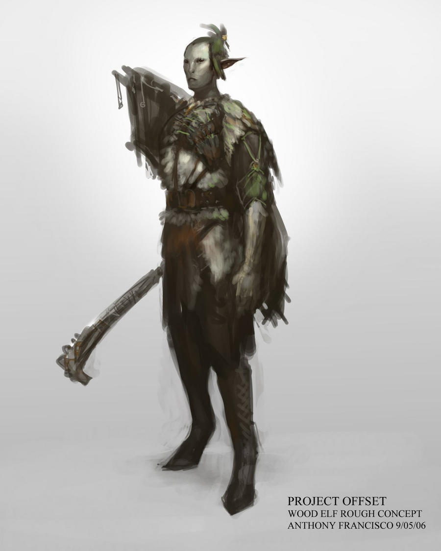 Wood Elves of project offset by Ubermonster