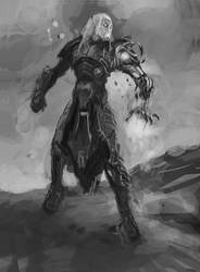 Value Sketch of Tez the seeker by Ubermonster