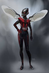 Antman Concept art - Wasp by Ubermonster