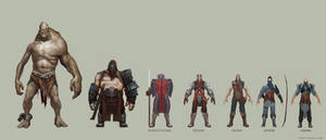 Character line-up 9.9.08 by Ubermonster