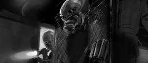 Antman Keyframe rough sketch by Ubermonster