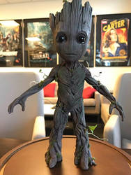 Baby Groot Statue by Ubermonster