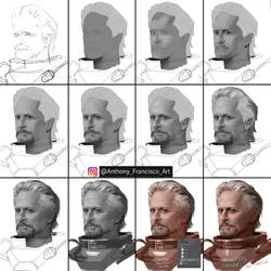 Step By Step  Hang Pyme Portrait painting