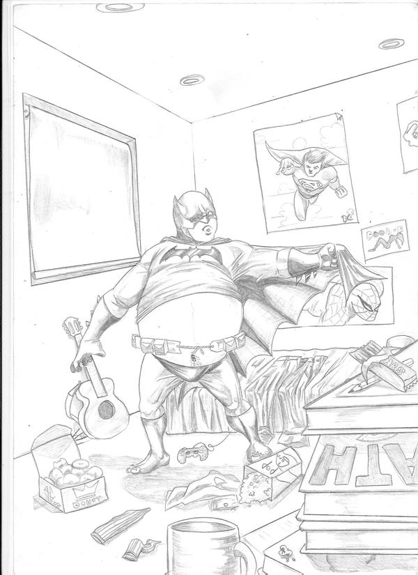 Fat Batman By Justblah On DeviantART