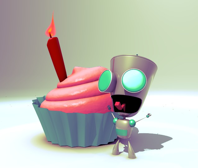 Gir says happy birthday by shakquan