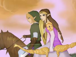 zelda and link by WinterMaiden11