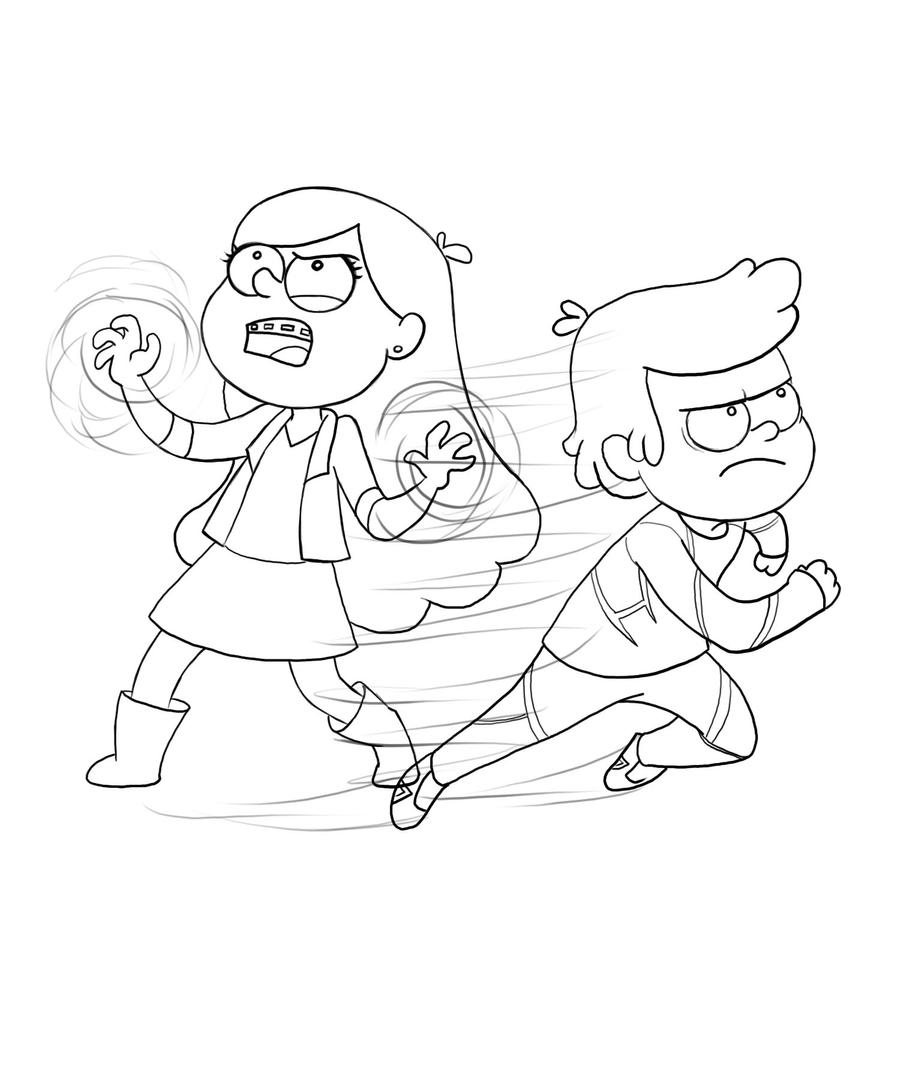 mabel and dipper coloring pages - photo#19
