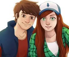 Dipper and Wendy (Selfie)