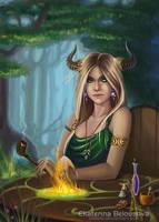 Forest enchantress by Ukitoki