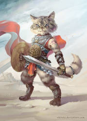 Cat Gladiator by Ukitoki