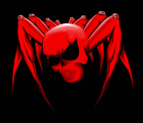 Red Spider-man Skull-type