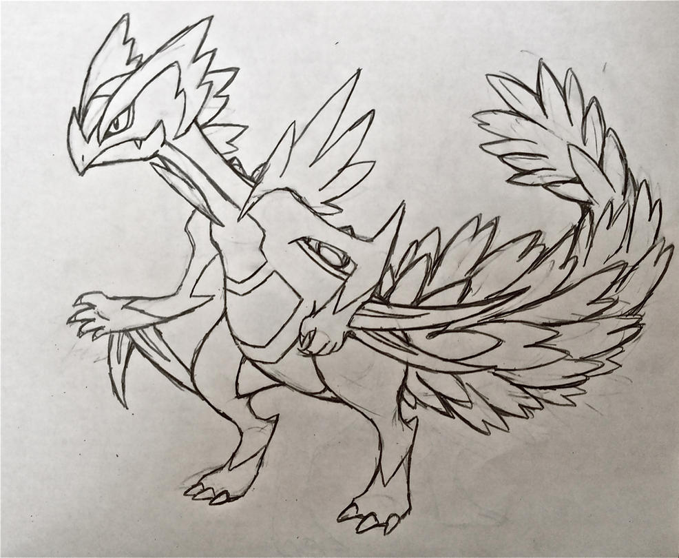 Pokemon coloring pages mega sceptile - Project Fakemon Mega Sceptile By Xxd17