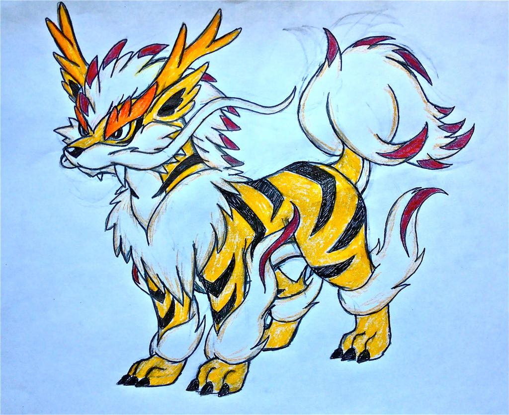project fakemon mega arcanine colored by xxd17 on deviantart