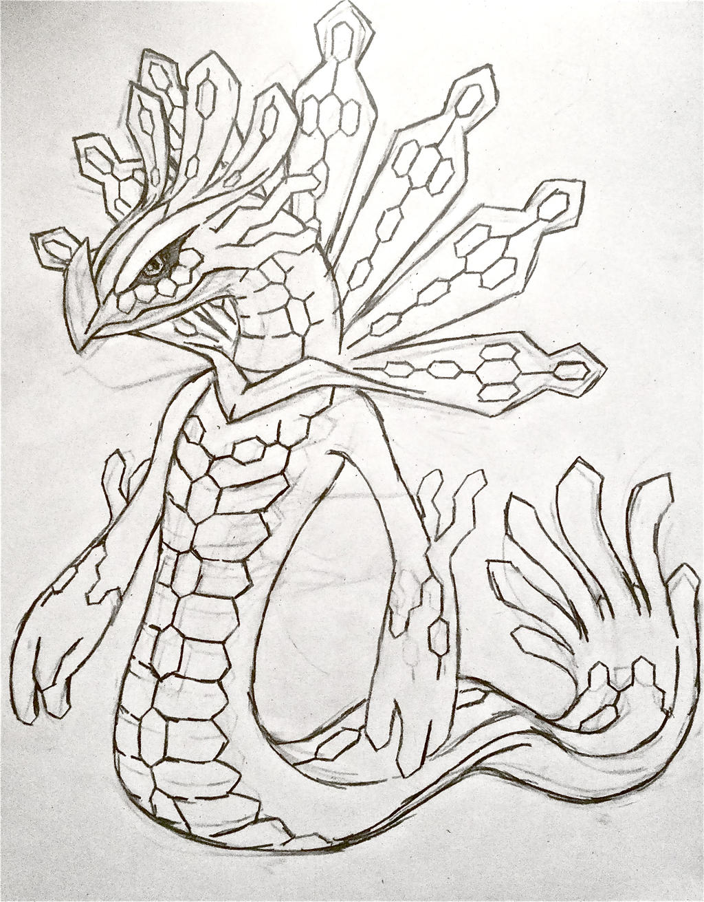 pokemon zygarde coloring pages - photo#20