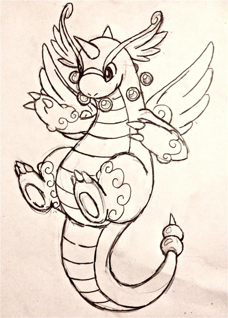 Project Fakemon Mega Dragonite V2 By XXD17