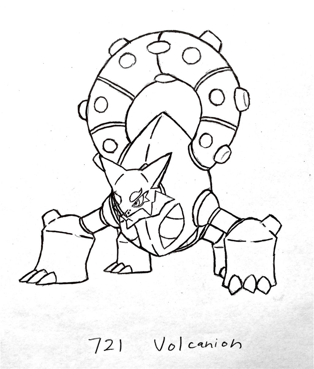 Volcanion Coloring Pages Coloring