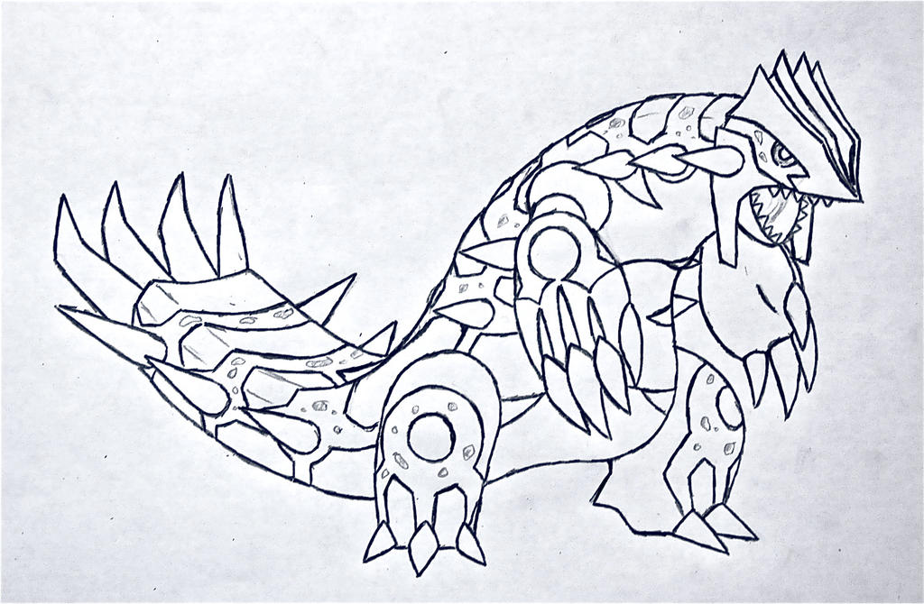 Primal prehistoric groudon v 2 by xxd17 on deviantart for Primal groudon coloring page